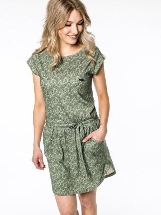 Alife and Kickin THEAAK DUST krátké letní šaty - zelená dámské S