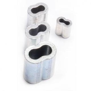Allroundmarin Hliníková lisovací spojka pro ocelová lanka 8mm