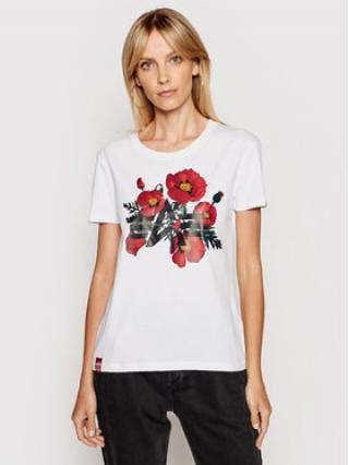 Alpha Industries T-Shirt Flower Logo 126063 Bílá Regular Fit dámské M