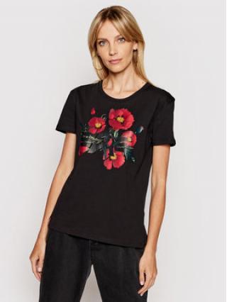 Alpha Industries T-Shirt Flower Logo 126063 Černá Regular Fit dámské XS