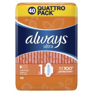 ALWAYS Ultra Normal Quatro 40 ks – vložky