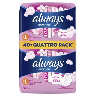 ALWAYS Ultra Sensitive Normal Quatro 40 ks – vložky