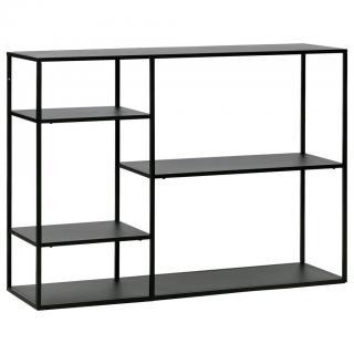 Ambia Home REGÁL, černá, železo, 120/87,5/35 cm - černá 120/87,5/35
