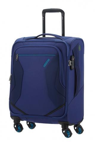 American Tourister Kabinový cestovní kufr Eco Wanderer Spinner 83G 40 l - modrá