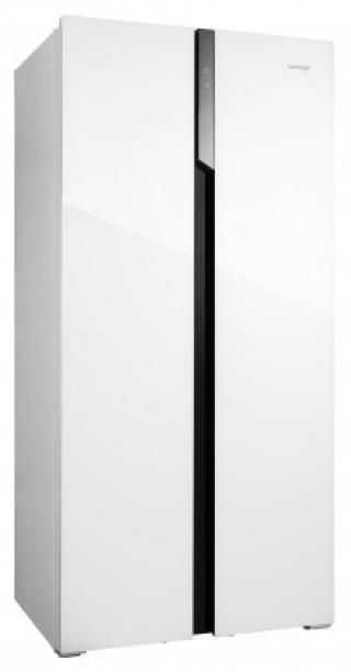 Americká chladnička concept la7383wh bílé sklo