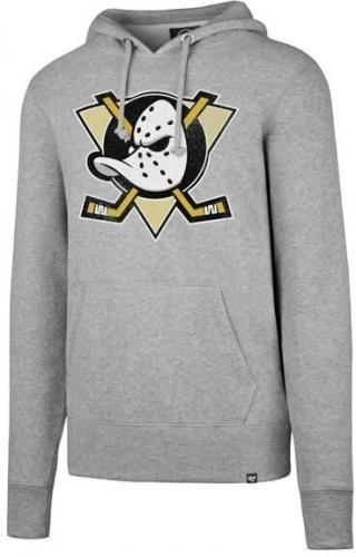 Anaheim Ducks Headline Pullover Hood NHL Slate Grey M M