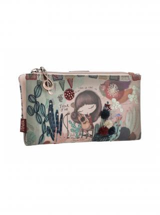 Anekke barevná malá peněženka Ixchel Music dámské fialová