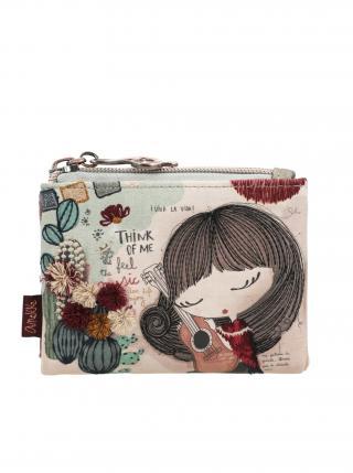 Anekke barevná peněženka Ixchel Music dámské fialová