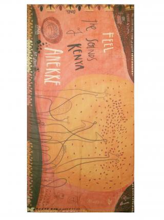Anekke oranžový šátek Kenya dámské oranžová
