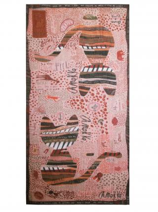 Anekke pudrový šátek Kenya dámské krémová