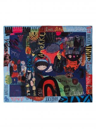 Anekke tmavě modrý šátek Nature dámské modrá
