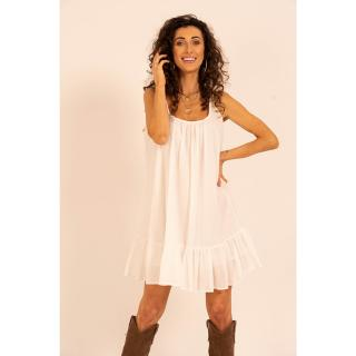 Angell Womans Oversize Dress Megan dámské White One size