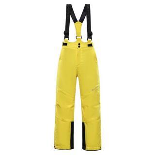 Aniko 4 Dětské Lyžařské Kalhoty S Membránou Ptx 104-110 ŽLUTÁ