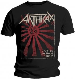 Anthrax Unisex Tee Live in Japan XL Black XL