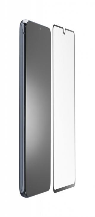 Antimikrobiální ochranné tvrzené sklo Cellularline Antibiom pro Samsung Galaxy A21s, černá