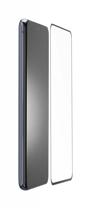 Antimikrobiální ochranné tvrzené sklo Cellularline Antibiom pro Samsung Galaxy S20, černá