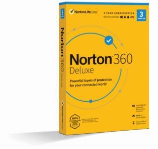 Antivirový program norton 360 deluxe 25gb, 1uživatel, 3 zařízení
