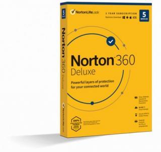 Antivirový program norton 360 deluxe 50gb, 1 uživatel, 5 zařízení