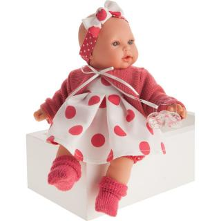 Antonio Juan 1117 Kika realistická panenka se zvuky a měkkým látkovým tělem 27 cm dámské