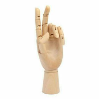 Apa Polska Dřevěný model Levá ruka 20 cm