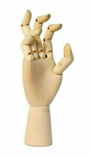 Apa Polska Dřevěný model Pravá ruka 20 cm