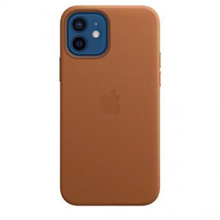 Apple kožený kryt s MagSafe Apple iPhone 12/12 Pro saddle brown