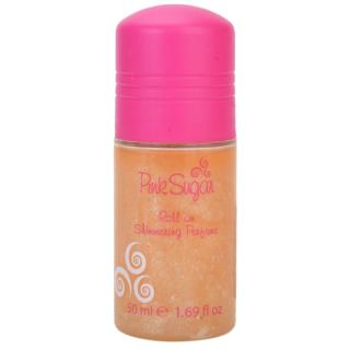 Aquolina Pink Sugar deodorant roll-on se třpytkami pro ženy 50 ml dámské 50 ml