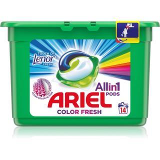 Ariel Color Touch Of Lenor kapsle na praní 14 ks 14 ks
