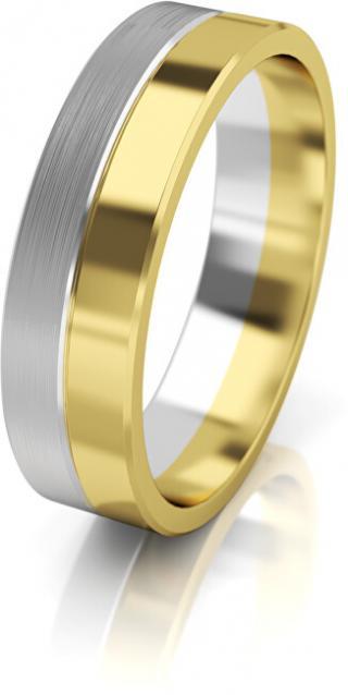 Art Diamond Dámský bicolor snubní prsten ze zlata AUG121 52 mm dámské