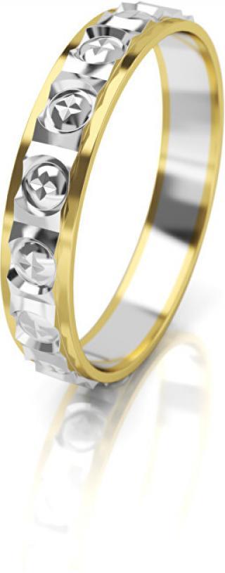 Art Diamond Dámský bicolor snubní prsten ze zlata AUG303 52 mm dámské