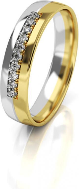 Art Diamond Dámský bicolor snubní prsten ze zlata AUG318 50 mm dámské