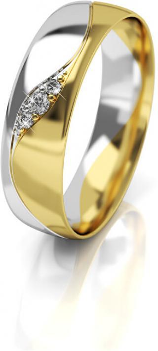 Art Diamond Dámský bicolor snubní prsten ze zlata se zirkony AUG276 52 mm dámské
