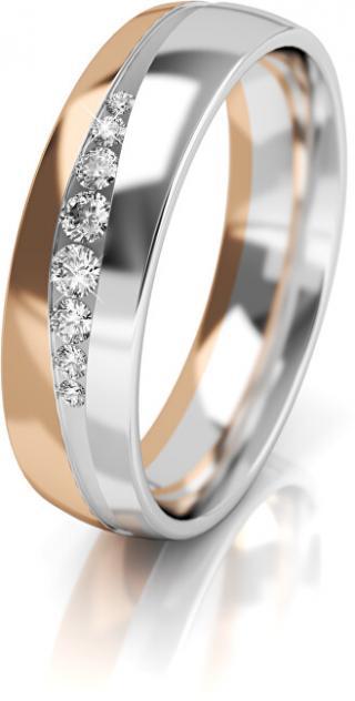 Art Diamond Dámský bicolor snubní prsten ze zlata se zirkony AUGDR002 56 mm dámské