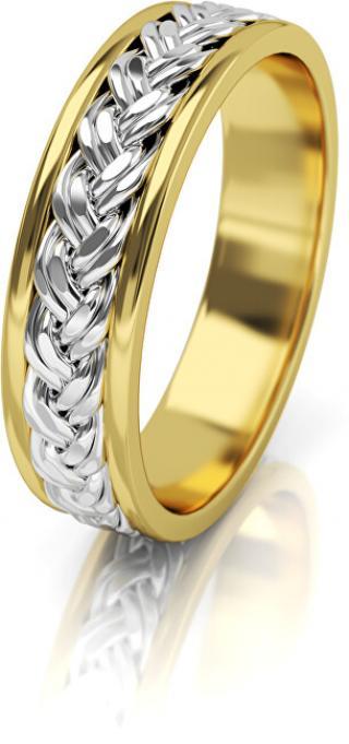 Art Diamond Dámský proplétaný snubní prsten ze zlata AUG008 58 mm dámské