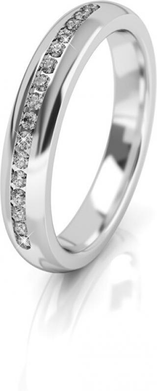 Art Diamond Dámský snubní prsten z bílého zlata se zirkony AUG277 58 mm dámské