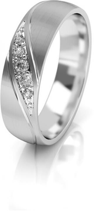 Art Diamond Dámský snubní prsten z bílého zlata se zirkony AUG284 58 mm dámské
