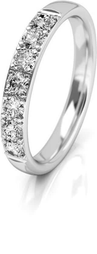 Art Diamond Dámský snubní prsten z bílého zlata se zirkony AUGDR015 58 mm dámské