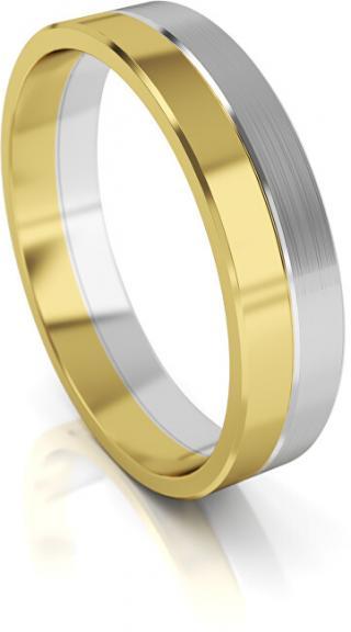 Art Diamond Pánský bicolor snubní prsten ze zlata AUG121 66 mm pánské