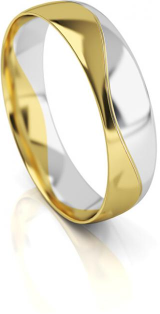 Art Diamond Pánský bicolor snubní prsten ze zlata AUG276 68 mm pánské