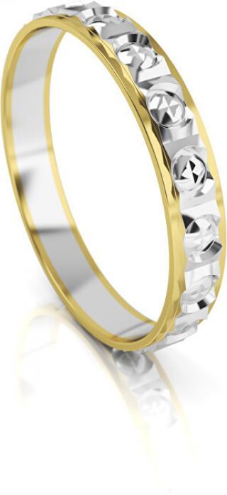 Art Diamond Pánský bicolor snubní prsten ze zlata AUG303 68 mm pánské