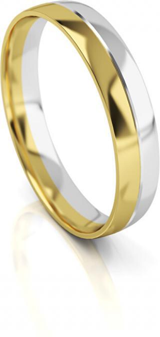 Art Diamond Pánský bicolor snubní prsten ze zlata AUG318 68 mm pánské