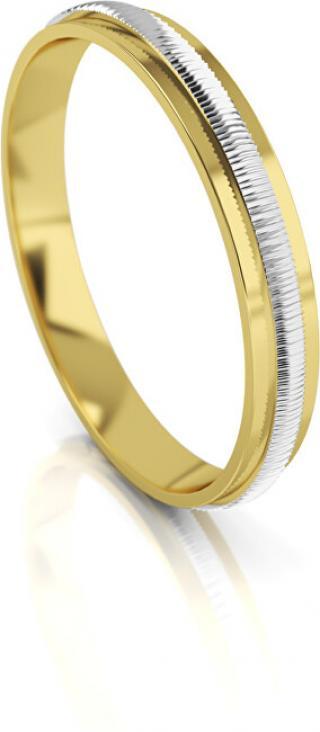 Art Diamond Pánský bicolor snubní prsten ze zlata AUG328 62 mm pánské