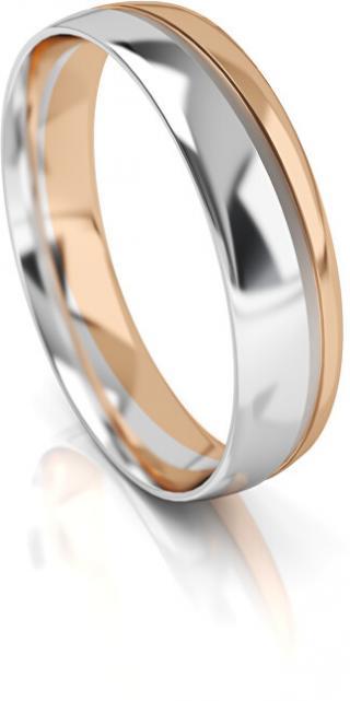 Art Diamond Pánský bicolor snubní prsten ze zlata AUGDR002 68 mm pánské