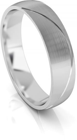 Art Diamond Pánský snubní prsten z bílého zlata AUG284 68 mm pánské