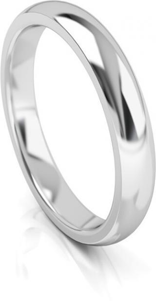 Art Diamond Pánský snubní prsten z bílého zlata AUG314B 68 mm pánské