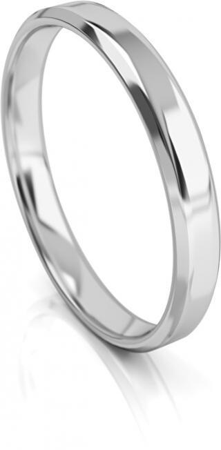 Art Diamond Pánský snubní prsten z bílého zlata AUGDR001 62 mm pánské