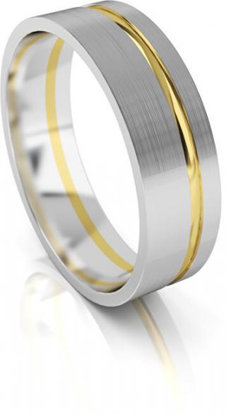 Art Diamond Pánský snubní prsten ze zlata AUG139 68 mm pánské