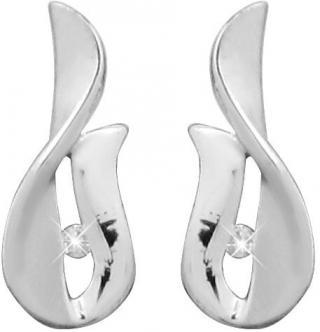 Art Diamond Stříbrné náušnice na šroubek s diamanty DAGUP1247S dámské