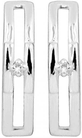 Art Diamond Stříbrné náušnice na šroubek s diamanty DAGUP1249S dámské