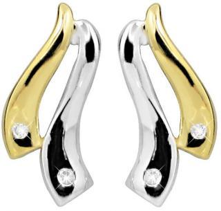 Art Diamond Stříbrné náušnice na šroubek s diamanty DAGUP1257S dámské